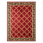 Safavieh Lyndhurst Flower and Vine Rug in Red