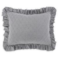 Levtex Home Sandwash Standard Pillow Sham in Grey