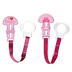 MAM Love & Affection I Love Daddy Paci Clip with Leash Set in Pink
