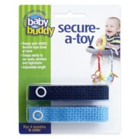Baby Buddy® Secure-A-Toy in Navy Blue (2-Pack)