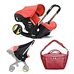 Doona™ Infant Car Seat/Stroller Bundle with All Day Bag and Sunshade in Red/Love