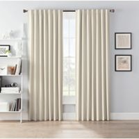 SmartBlock™ Chroma 95-Inch Rod Pocket 100% Blackout Window Curtain Panel in Tan