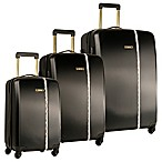 Nine West® Noelle 3-Piece Hardside Spinner Luggage Set in Black
