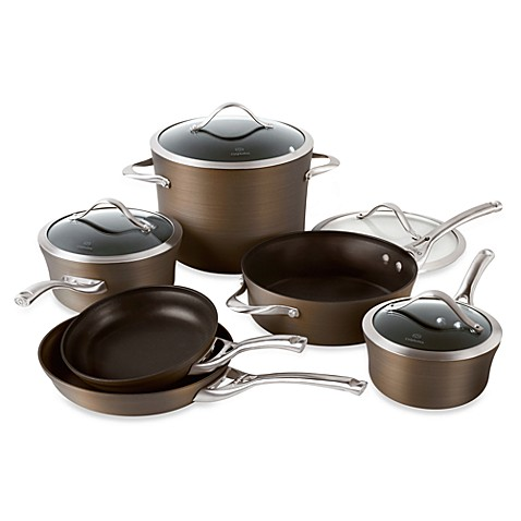 calphalon nonstick bronze anodized edition 10piece cookware set