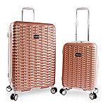 Bebe Lydia 2-Piece Hardside Spinner Luggage in Rose Gold