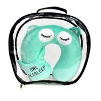 Under One Sky Owl Neck Pillow/Eye Mask Set in Green