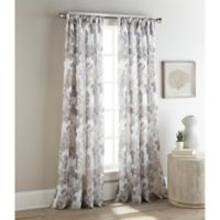 Sherry Kline Argasio 96-Inch Rod Pocket/Back Tab Sheer Window Curtain Panel Pair in Natural/Silver