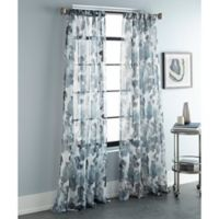 Sherry Kline Argasio 96-Inch Rod Pocket/Back Tab Sheer Window Curtain Panel Pair in Teal