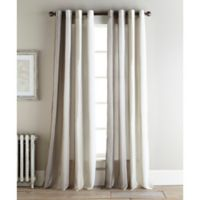 Sherry Kline Ambiance 96-Inch Rod Pocket/Back Tab Sheer Window Curtain Panel Pair in Natural