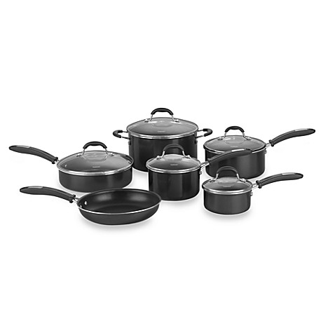 Cuisinart kitchen pro aluminum 11 piece cookware set for Kitchen set aluminium