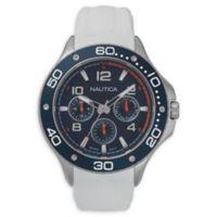 Nautica® Men's 44mm NAPP25001 Pier 25 Watch in White