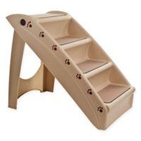 PETMAKER 4-Step Folding Pet Stairs in Tan