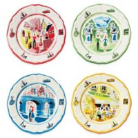Euro Ceramica An American In Paris 4-Piece Salad Plate Set