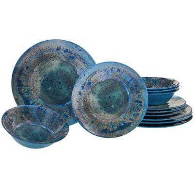 Certified International Radiance 12-Piece Dinnerware Set in Teal  sc 1 st  Bed Bath \u0026 Beyond & Buy Teal Dinnerware from Bed Bath \u0026 Beyond