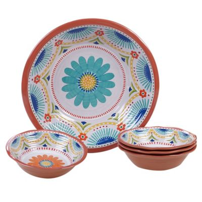 Certified International Vera Cruz 5-Piece Serving/Salad Set  sc 1 st  Bed Bath \u0026 Beyond : colourful dinnerware - pezcame.com