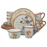 Certified International Herb Blossoms 16-Piece Dinnerware Set
