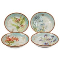 Certified International Herb Blossoms Soup/Pasta Bowls (Set of 4)