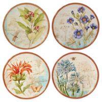 Certified International Herb Blossoms Dessert Plates (Set of 4)