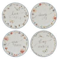 Certified International Canape Plates (Set of 4)