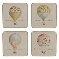 Certified International Beautiful Romance Balloon Dessert Plates (Set of 4)