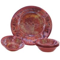 Certified International Radiance 5-Piece Serving/Salad Set in Red