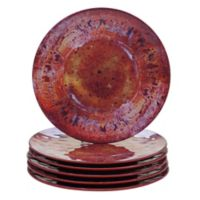 Certified International Radiance Dinner Plates in Red (Set of 6)