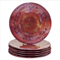 Certified International Radiance Salad Plates in Red (Set of 6)