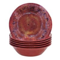 Certified International Radiance All-Purpose Bowls in Red (Set of 6)