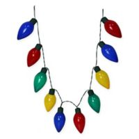 lighted necklace holiday decoration - Hanging Lighted Christmas Decorations
