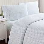 Truly Soft Everyday Dot Queen Sheet Set in Aqua