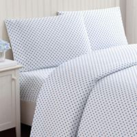 Truly Soft Everyday Dot Full Sheet Set in Blue