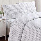 Truly Soft Everyday Dot Queen Sheet Set in Grey