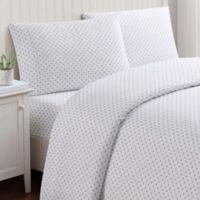 Truly Soft Everyday Dot Twin XL Sheet Set in Grey