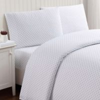 Truly Soft Everyday Dot Queen Sheet Set in Purple