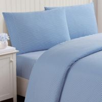 Truly Soft Stripe Queen Sheet Set in Blue