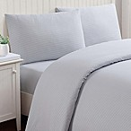 Truly Soft Stripe Queen Sheet Set in Grey