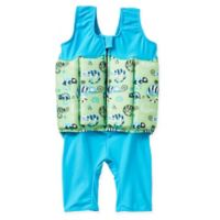 Splash About Size 4-6Y 2-Piece Short John Floatsuit in Green/Blue
