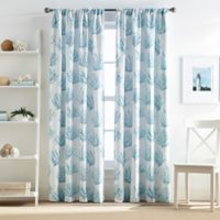 Cocoa Beach 95-Inch Pole Top Window Curtain Panel in Blue