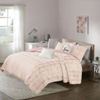 Intelligent Design Raina 4-Piece Twin/Twin XL Coverlet Set in Blush/Gold
