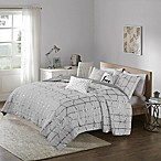 Intelligent Design Raina 5-Piece Full/Queen Coverlet Set in Grey/Silver