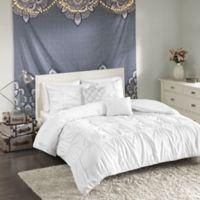Intelligent Design Benny Full/Queen Comforter Set in White