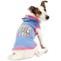 Smoochie Pooch Small Mommy's Bestie Forever Pet Hoodie in Purple