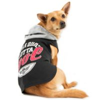 """Smoochie Pooch Extra-Small """"Little Dude Lotta Cool"""" Hoodie in Black"""