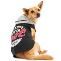 "Smoochie Pooch Medium ""Little Dude Lotta Cool"" Hoodie in Black"