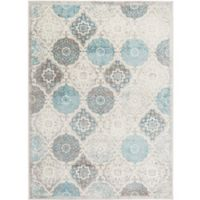 Home Dynamix Boho Patterned 5'2 x 7'2 Area Rug in Grey/Blue