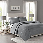 Madison Park Linnette Full/Queen Coverlet Set in Dark Grey