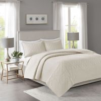 Madison Park Linnette King/California King Coverlet Set in Ivory