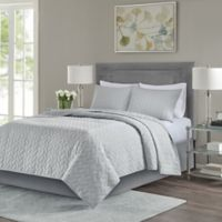 Madison Park Noel King/California King Coverlet Set in Grey