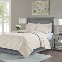 Madison Park Noel King/California King Coverlet Set in Ivory