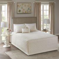 Madison Park Breanna King/California King Bedspread Set in Ivory